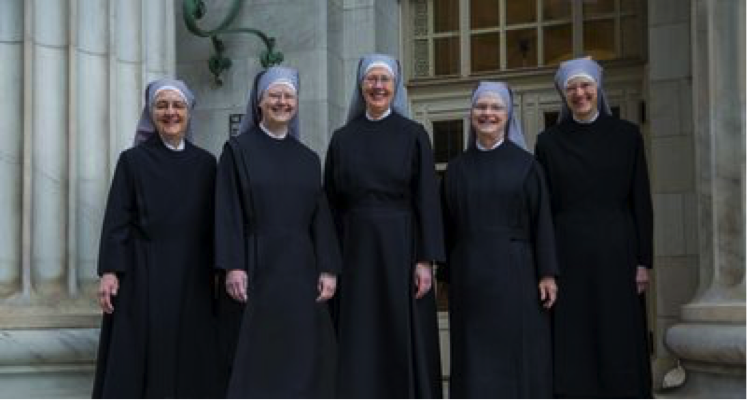 Mother Provincial Loraine Marie, center. Photos provided by ND Center for Ethics and Culture